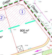 Annonce vente Terrain avec terrain constructible breuil