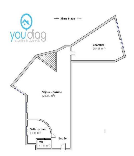 Appartement a vendre nanterre - 2 pièce(s) - 49 m2 - Surfyn