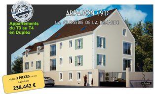 Annonce vente Appartement avec terrasse arpajon