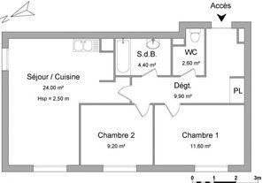Annonce location Appartement avec cuisine ouverte bourgtheroulde-infreville