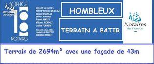 Annonce vente Terrain hombleux