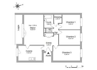 Annonce location Appartement avec parking taverny