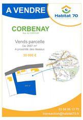 Annonce vente Terrain corbenay