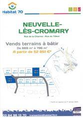 Annonce vente Terrain neuvelle-lès-cromary