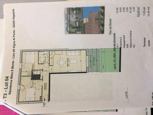 Annonce vente Appartement avec terrasse algajola